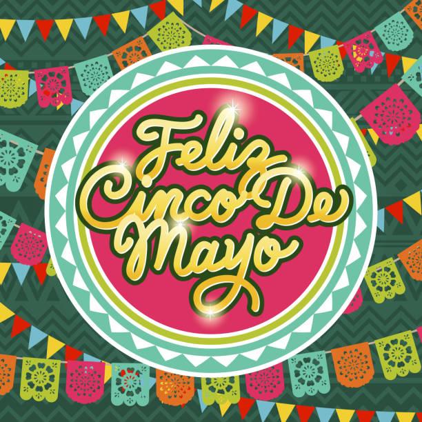 Cinco De Mayo Papel Picado – Vektorgrafik