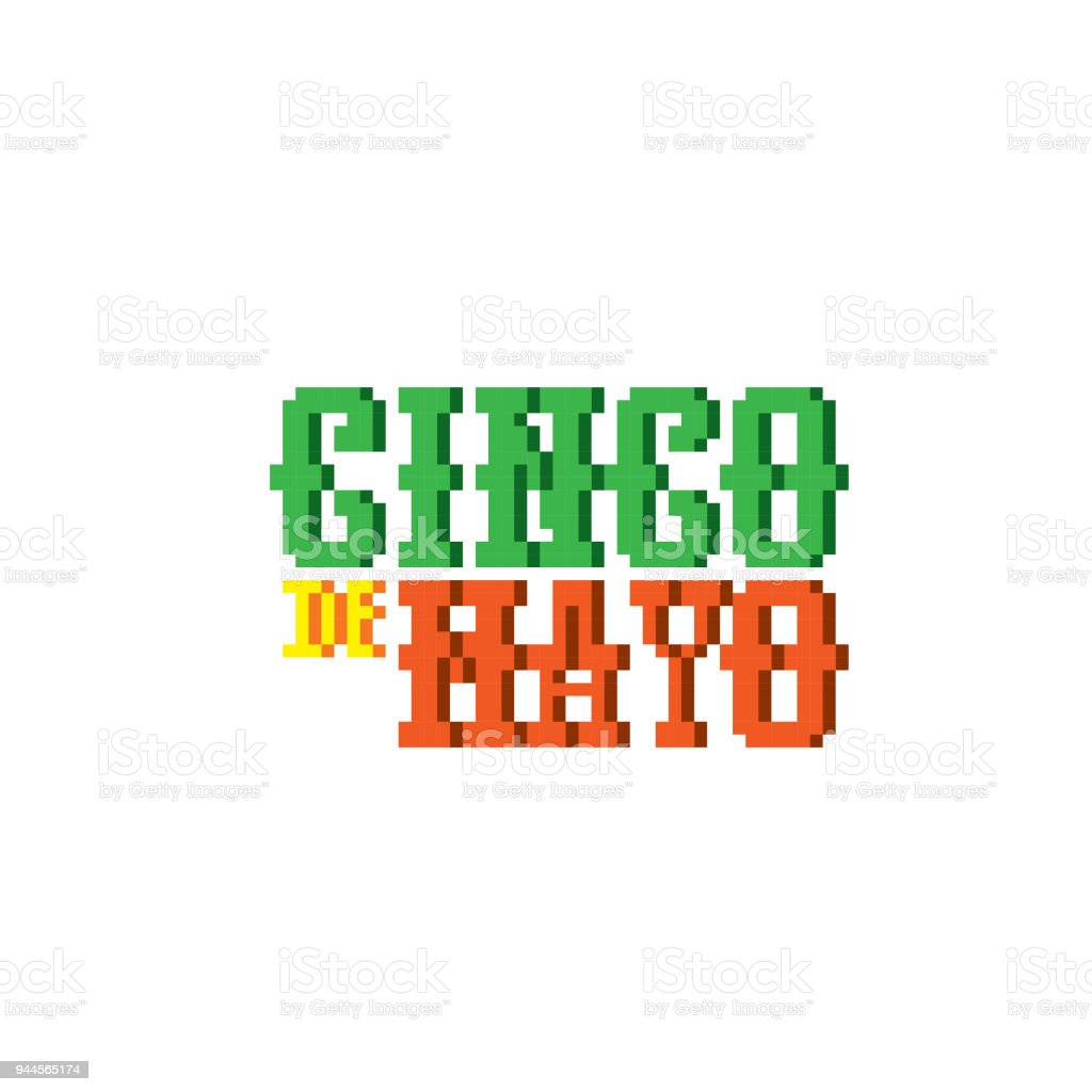 Cinco De Mayo Pixel Art Old School Computer Graphic Style