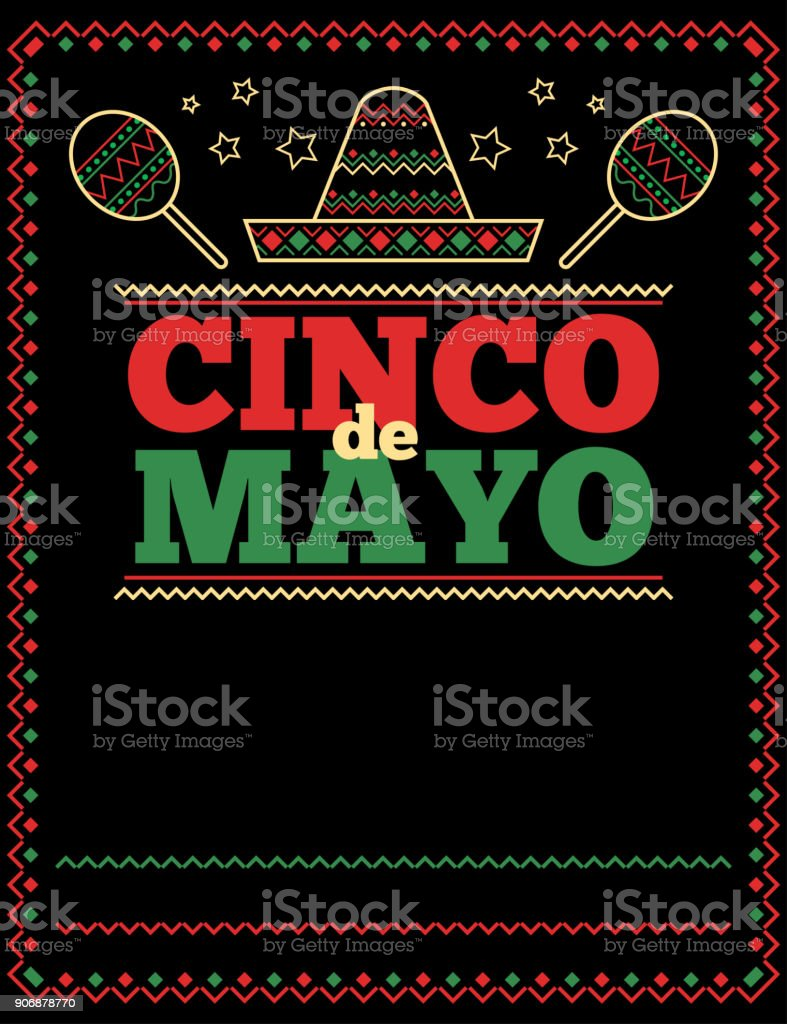 cinco de mayo poster and flyer template with traditional elements