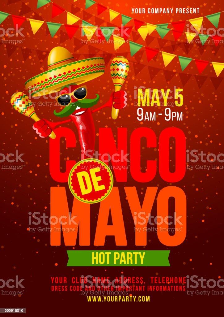 Cinco de Mayo poster vector art illustration