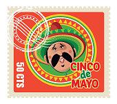 Vector Cinco de Mayo Stamp