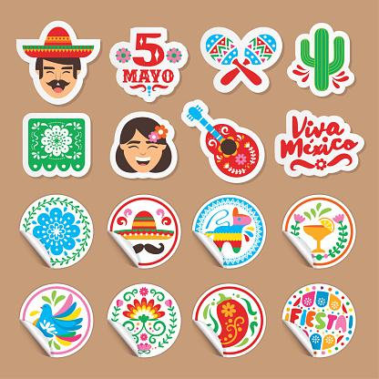 Cinco de Mayo - stickers set