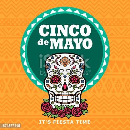 istock Cinco De Mayo Sugar Skull Party 671877146