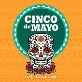 istock Cinco De Mayo Sugar Skull Fiesta 671877146