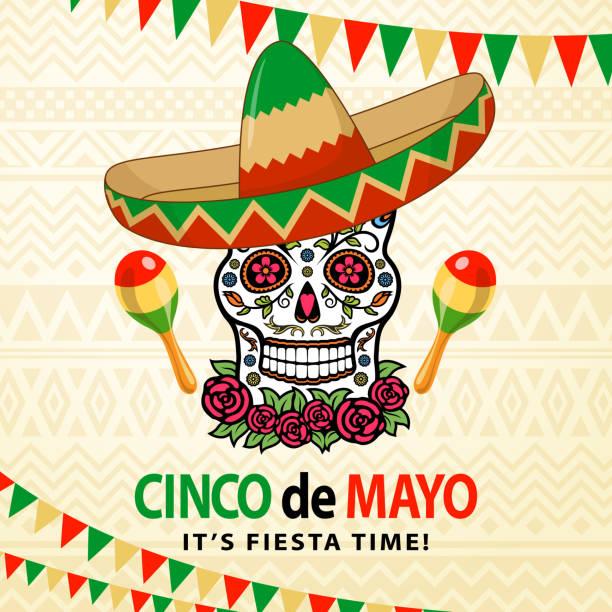Cinco De Mayo Sugar Skull – Vektorgrafik
