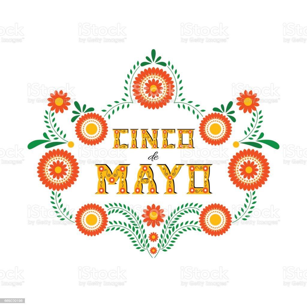 Cinco de Mayo typography banner vector vector art illustration