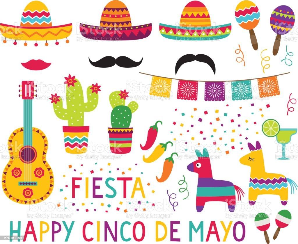 Cinco de Mayo vector set vector art illustration