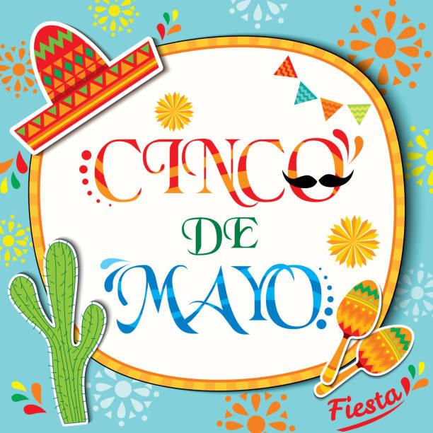 cinco-de-mayo-background - cinco de may stock illustrations, clip art, cartoons, & icons