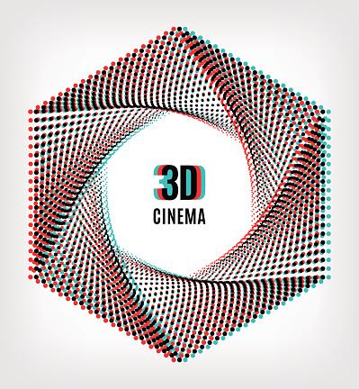 Cinema 3D creative concept banner poster