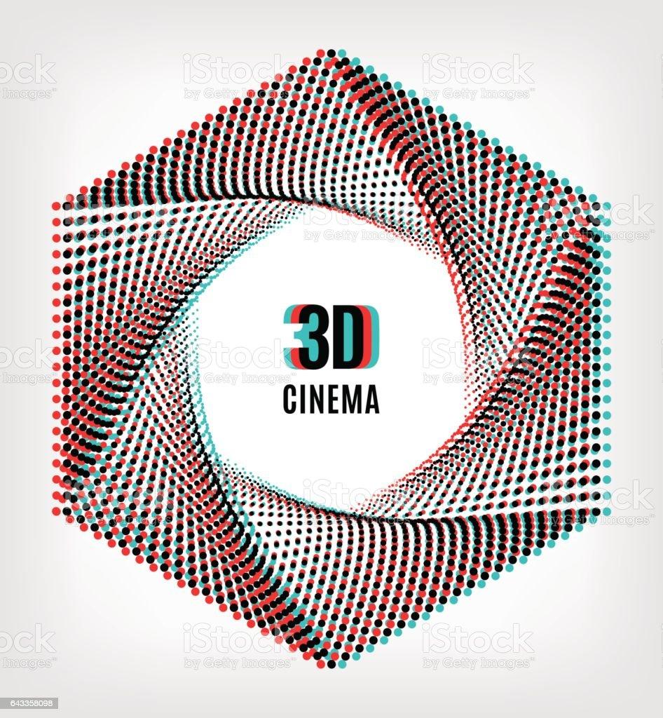 Affiche de cinéma 3D concept créatif bannière - Illustration vectorielle
