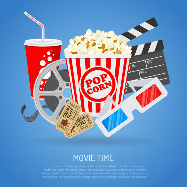 Cinema and Movie time – Vektorgrafik