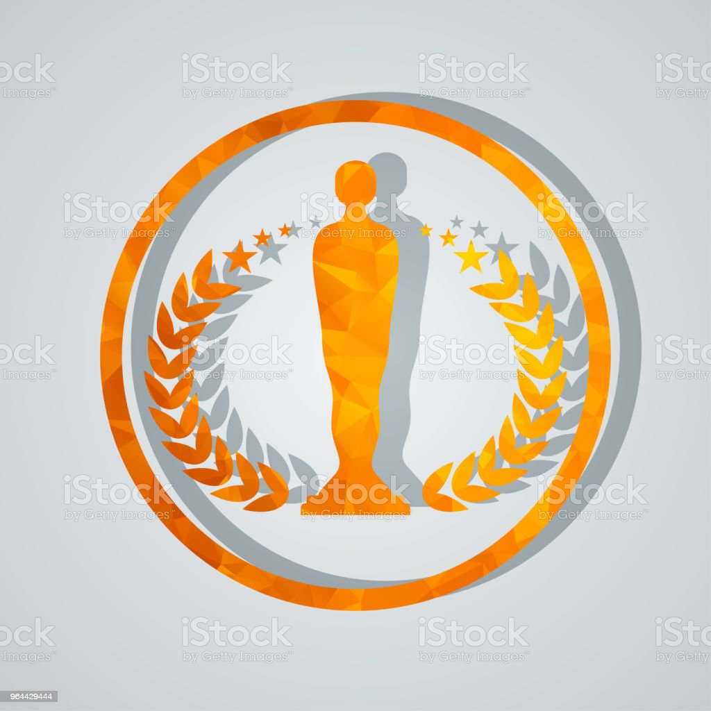 cinema award with statuette - Royalty-free Abstract stock vector