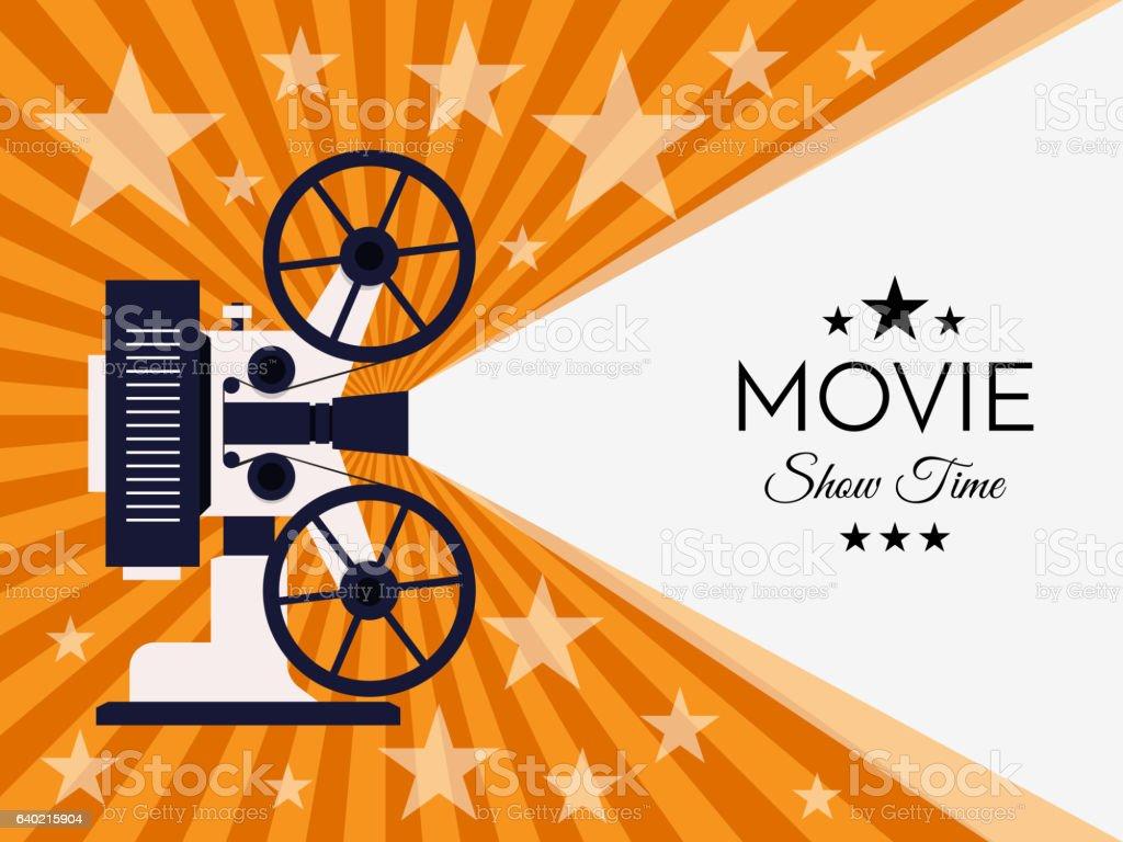 cinema background or banner movie flyer ticket template