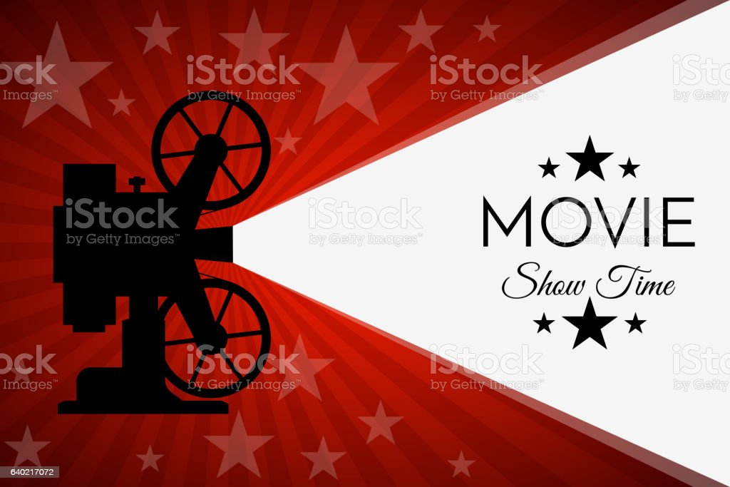 Cinema Background Or Banner Movie Flyer Ticket Template Royalty Free