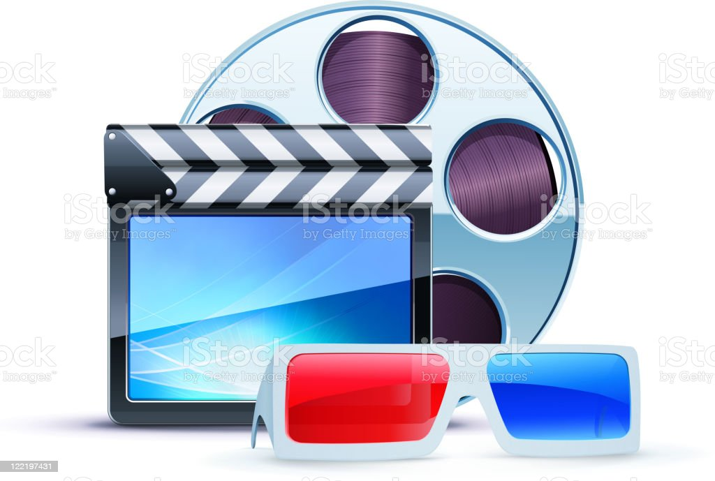 cinema background royalty-free stock vector art