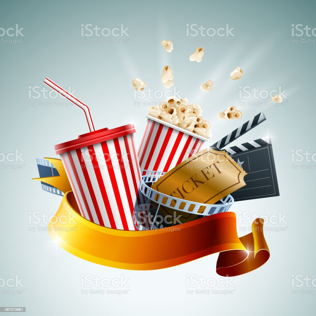 Cinema Banner vector art illustration