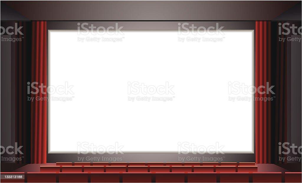 cinema blank Screen vector art illustration