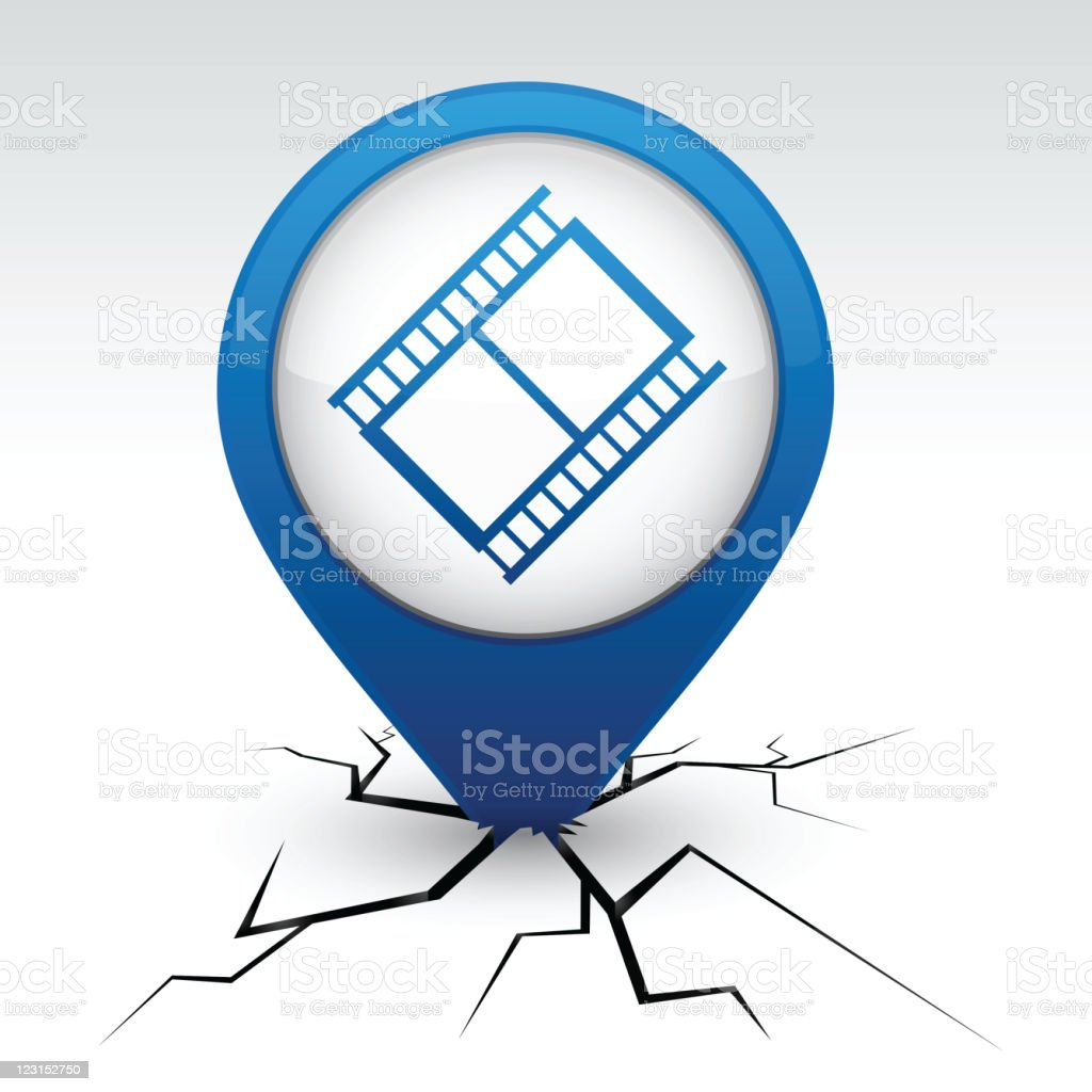 Cinema blue icon in crack. royalty-free cinema blue icon in crack stock vector art & more images of announcement message