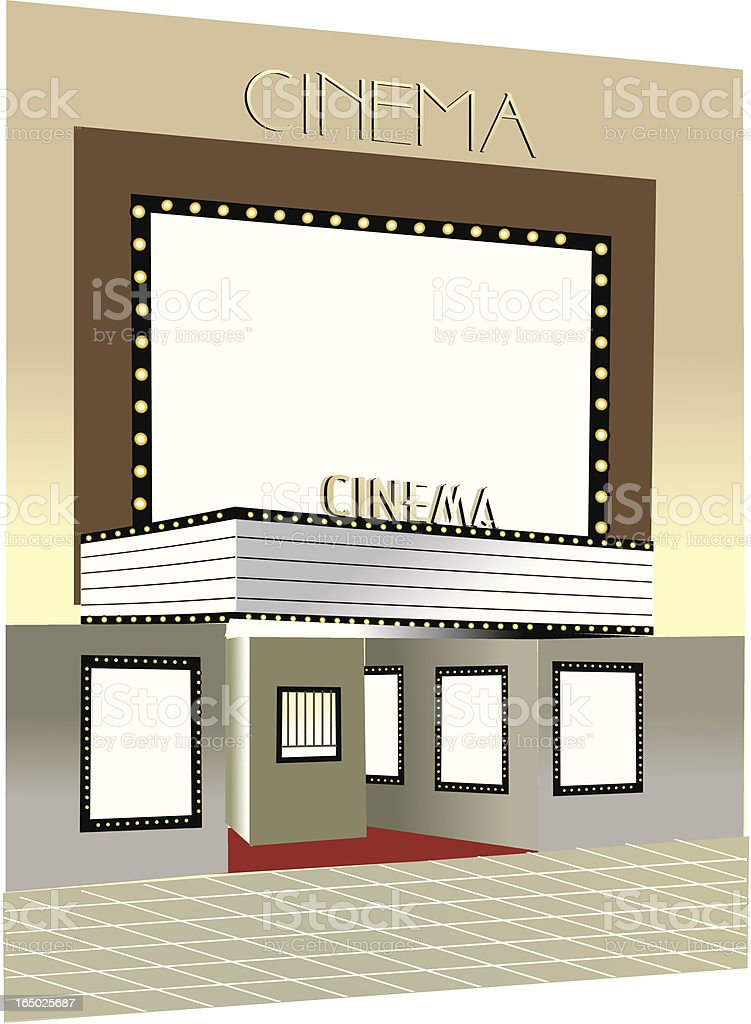 cinema building street storefront  VECTOR royalty-free stock vector art