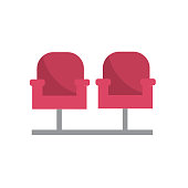 cinema chair to watch movie scene