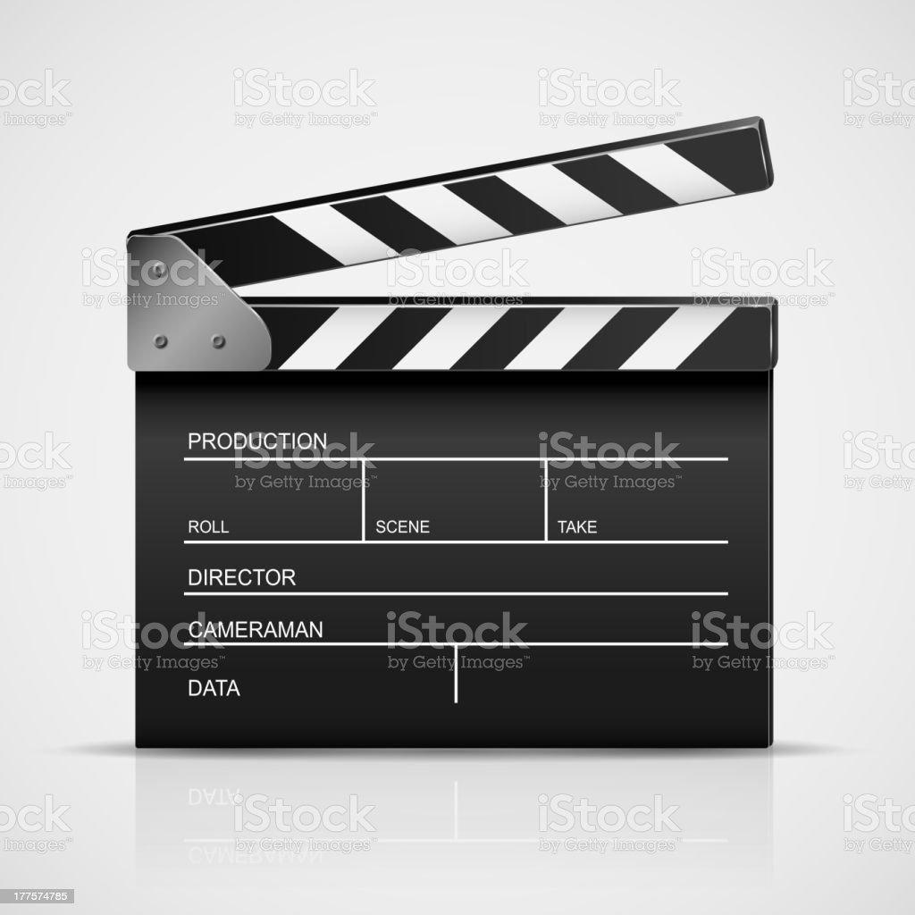 Cinema clapper vector art illustration