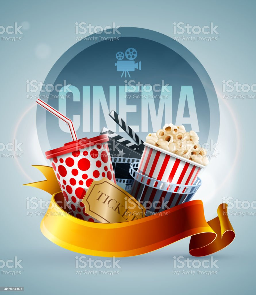 Cinema concept banner vector art illustration