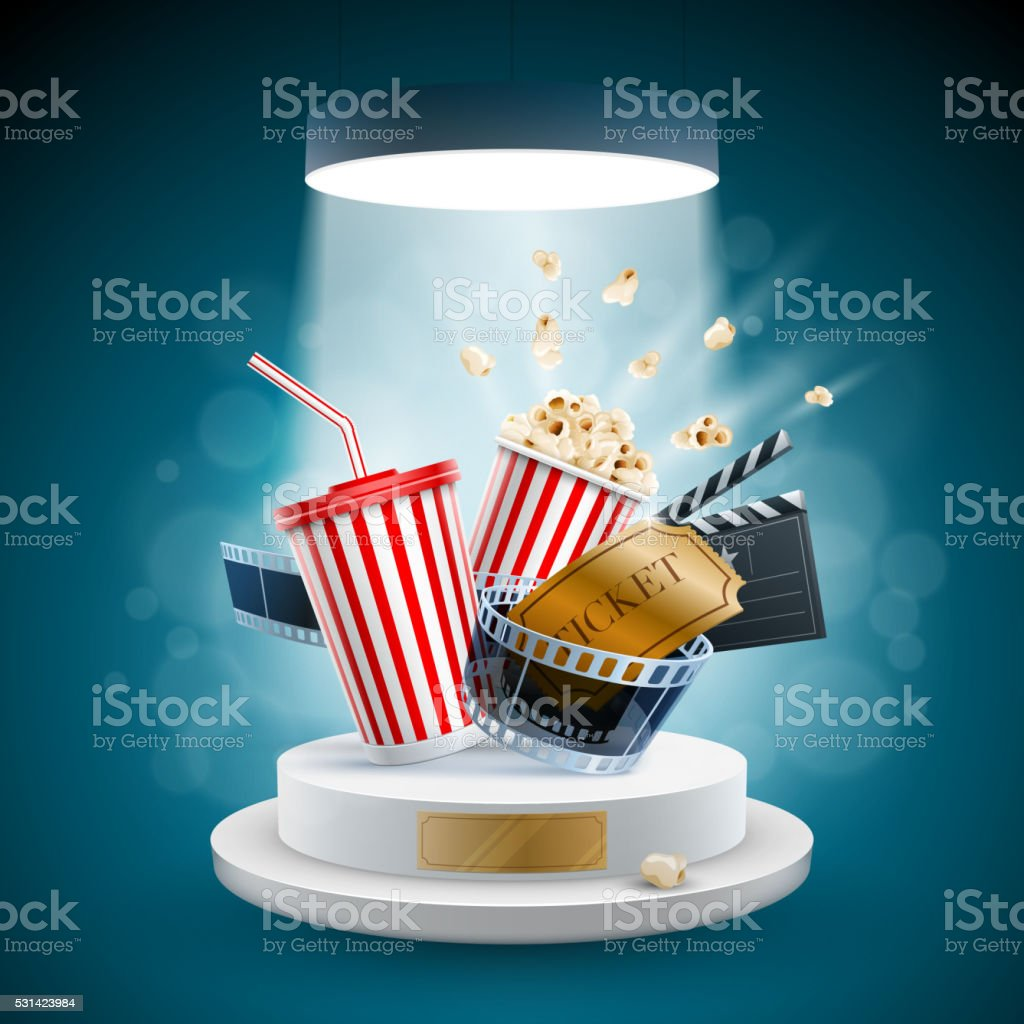 Cinema Concept Design. vector art illustration