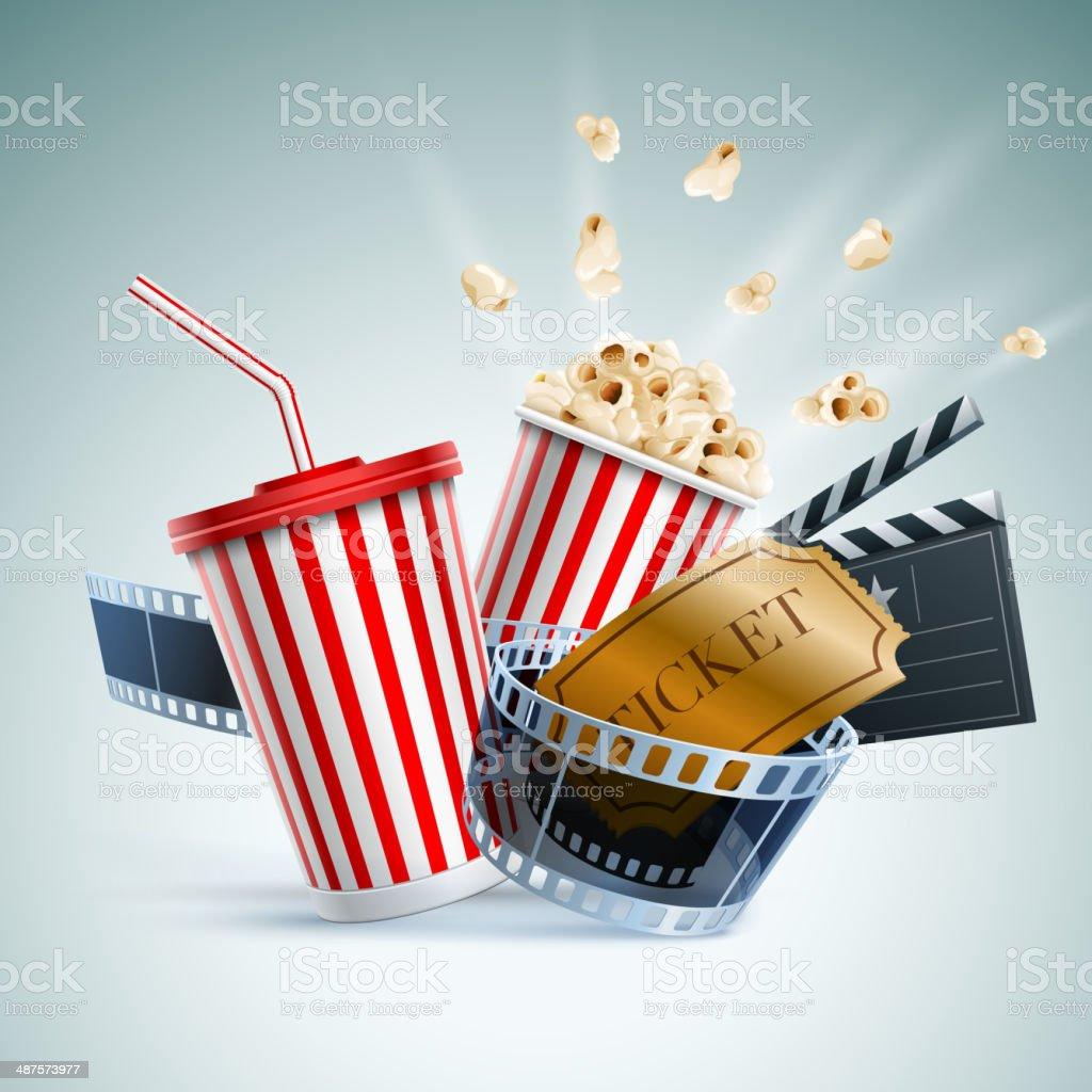 Cinema concept illustration vector art illustration