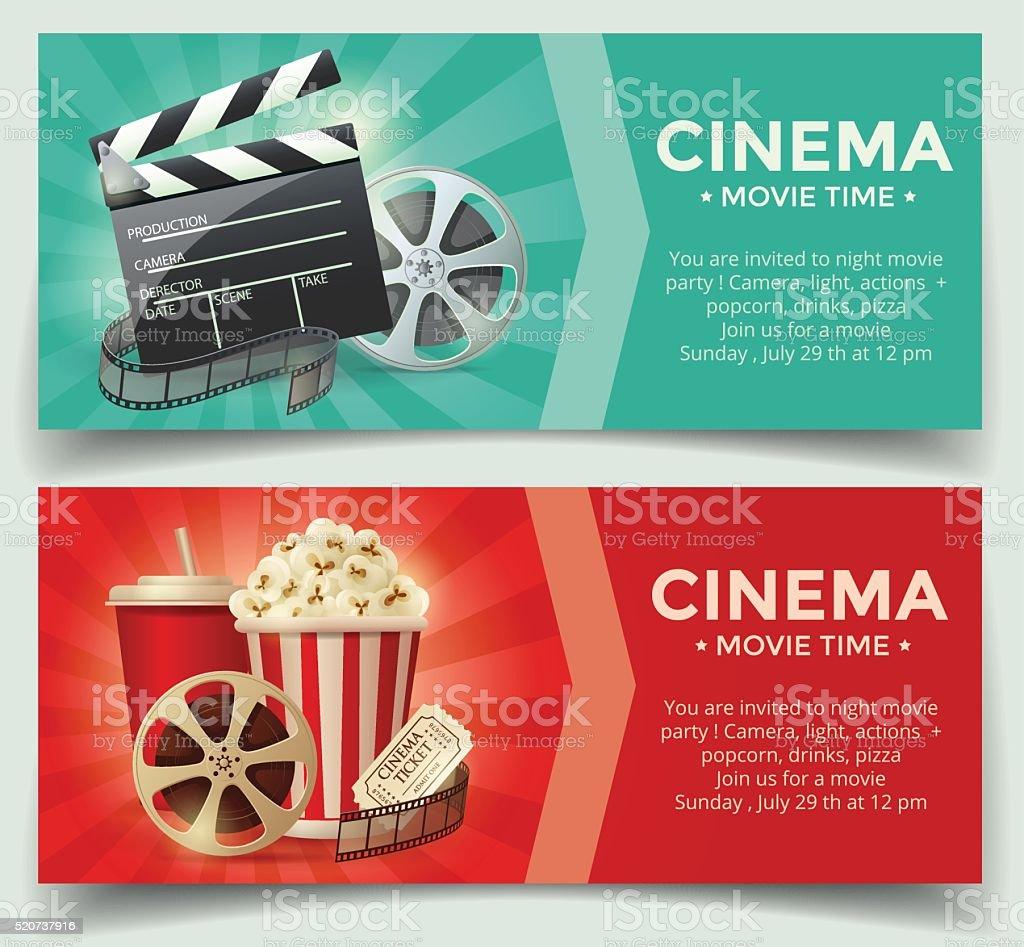 Kino Konzept Postervorlage Stock Vektor Art und mehr Bilder von ...