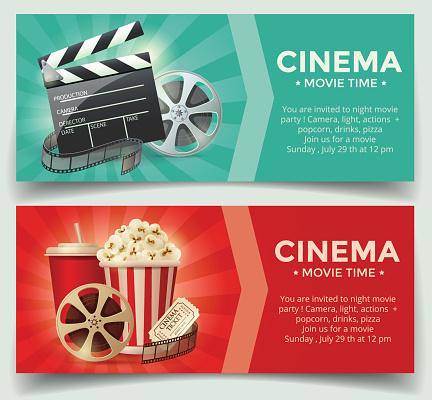 Cinema concept poster template