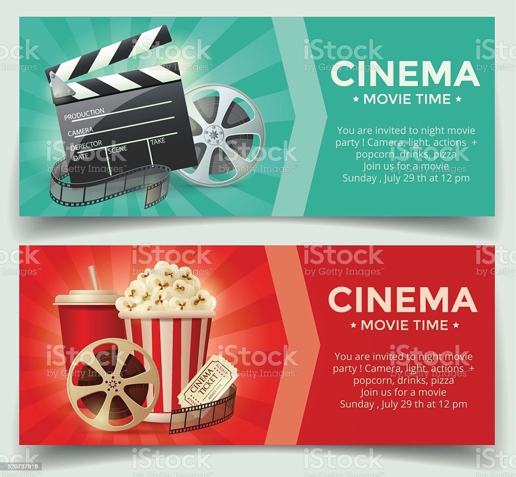Cinema concept poster template vector art illustration