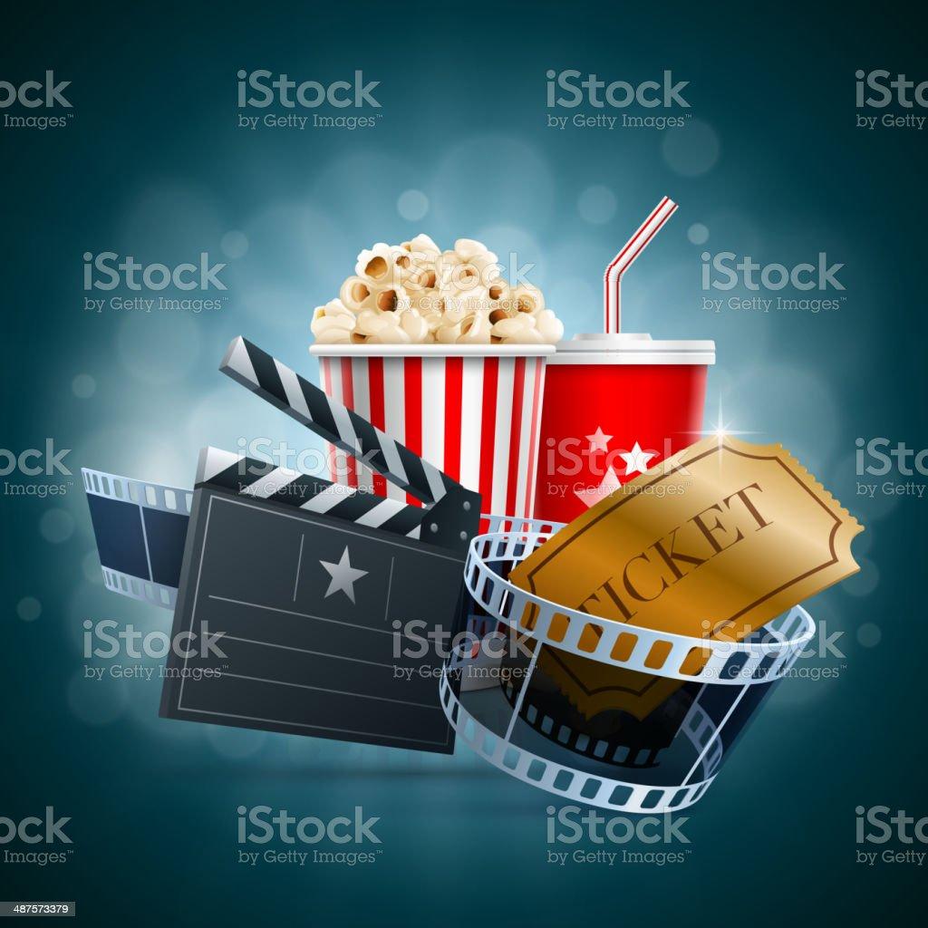 Cinema concept vector art illustration