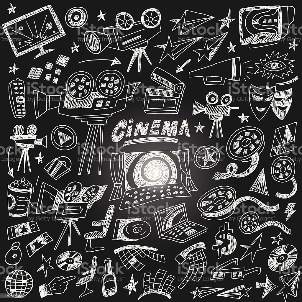 Dessins-configuration cinéma - Illustration vectorielle