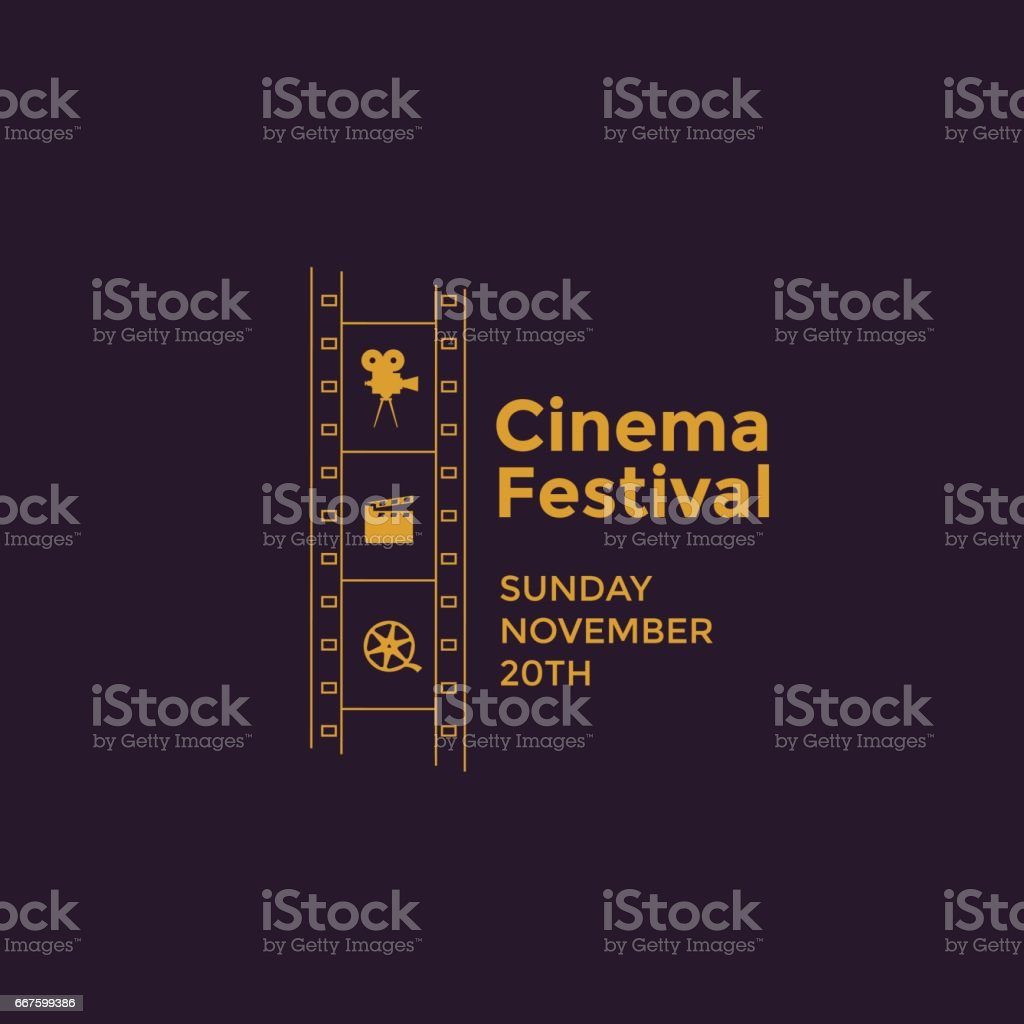 Cinema festival emblem royalty-free cinema festival emblem stock illustration - download image now