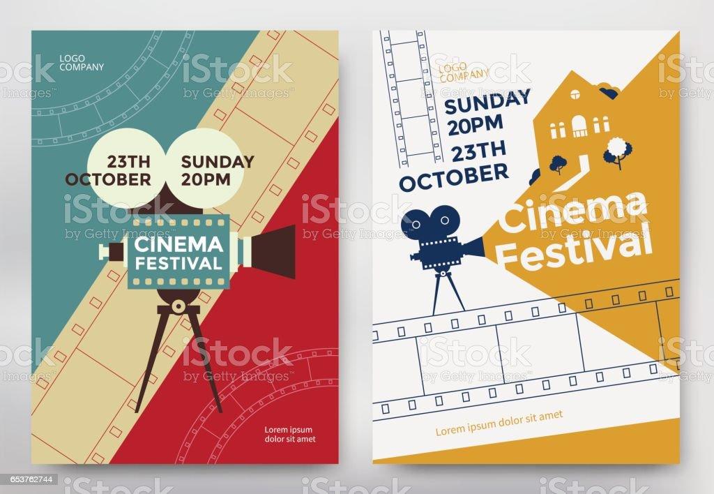 Cinema festival poster vector art illustration