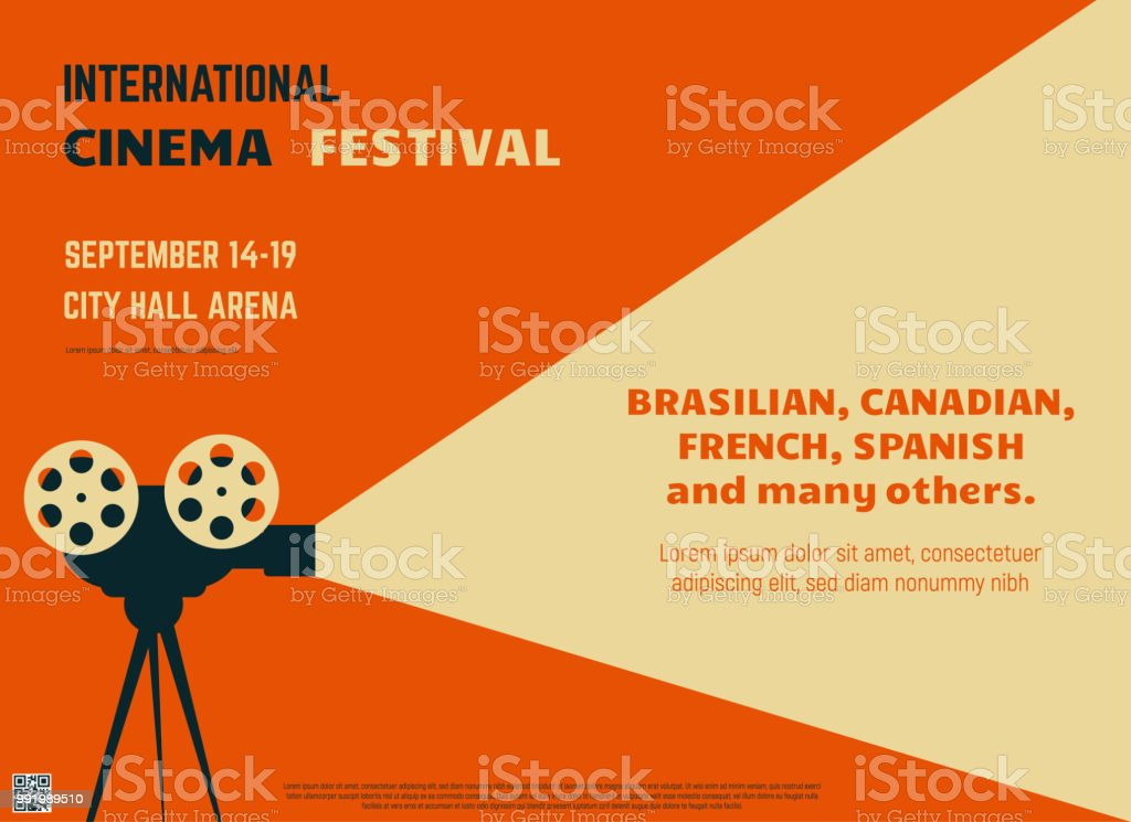 Cinema Festival Retro Poster Stock Illustration Download Image Now Istock