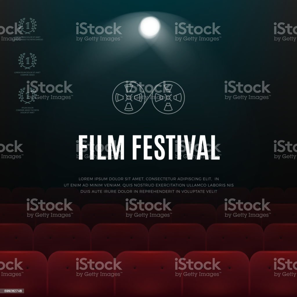cinema film festival vector abstract poster background アイコンの