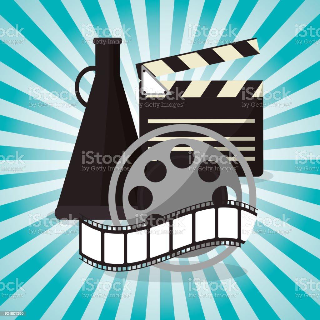 Carrete De Celuloide De Cine Con Diseño De Altavoces - Arte ...