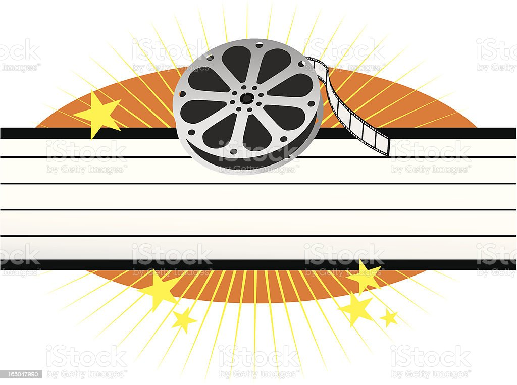 cinema film roll and blank marquee with stars royalty-free cinema film roll and blank marquee with stars stock vector art & more images of arts culture and entertainment
