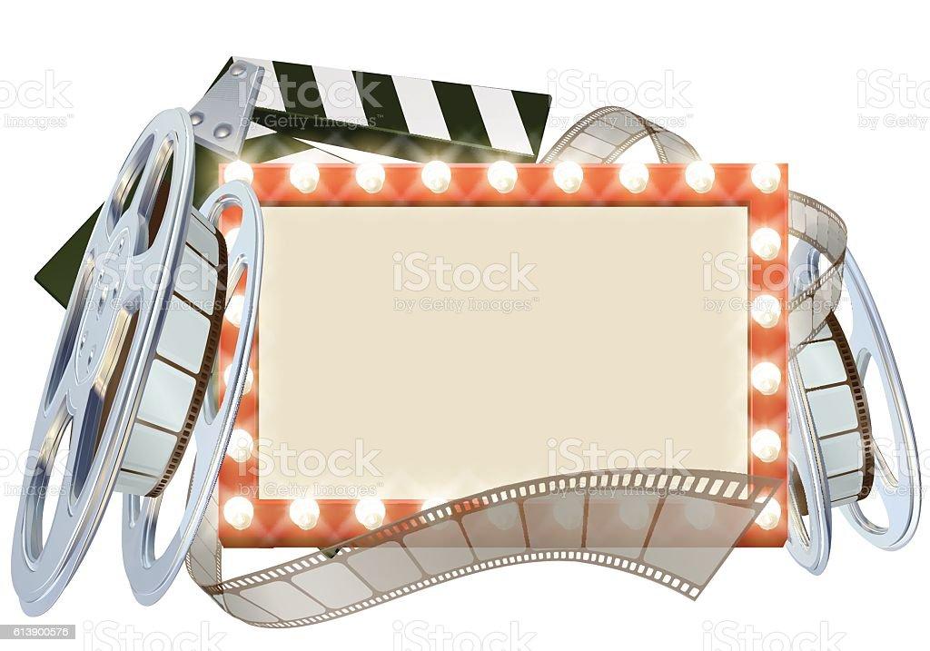 Cinema Film Sign vector art illustration
