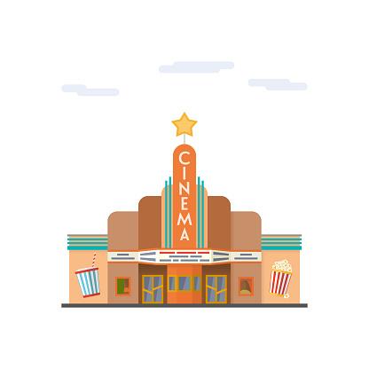 Cinema flat design vector illustration