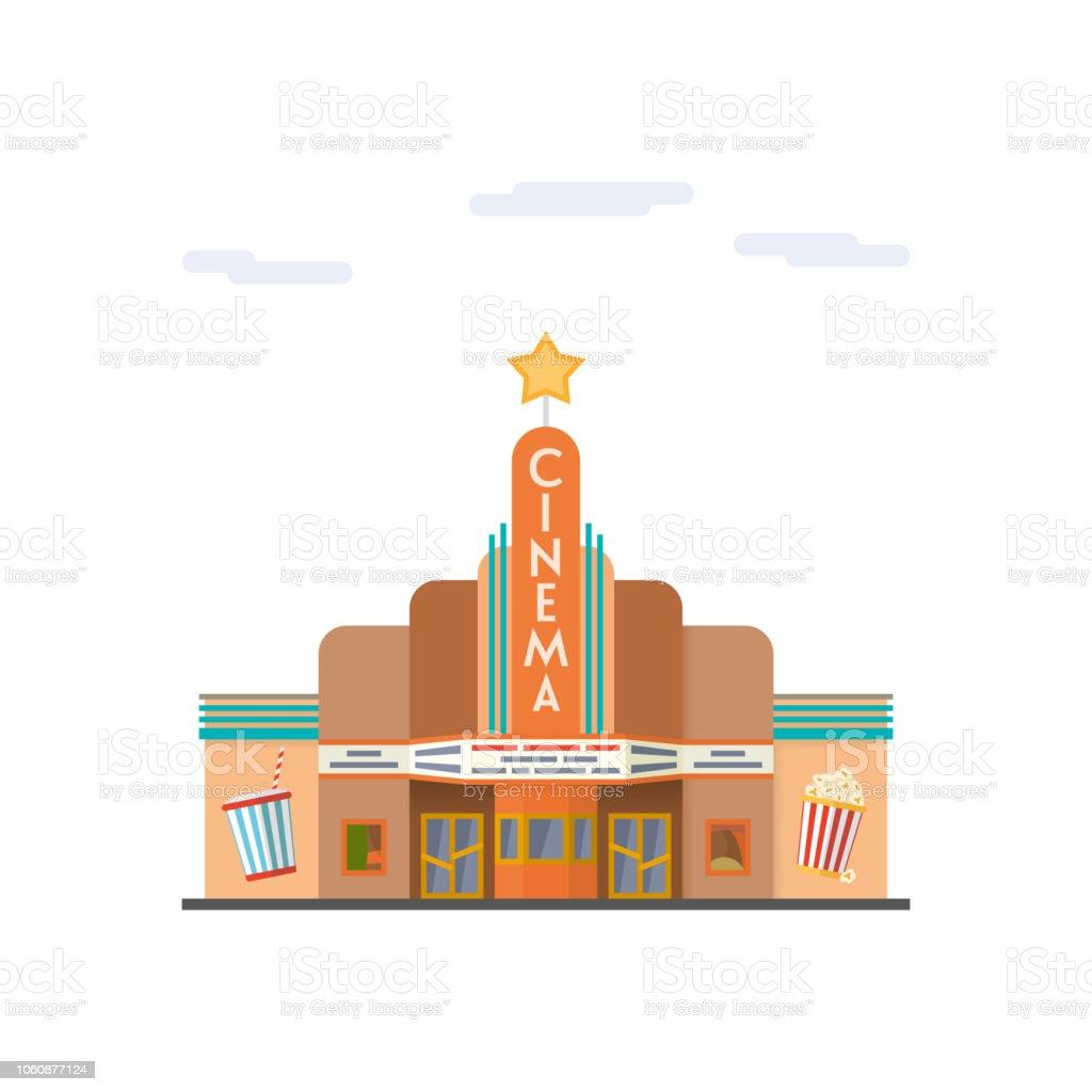 Cinema flat design vector illustration vector art illustration