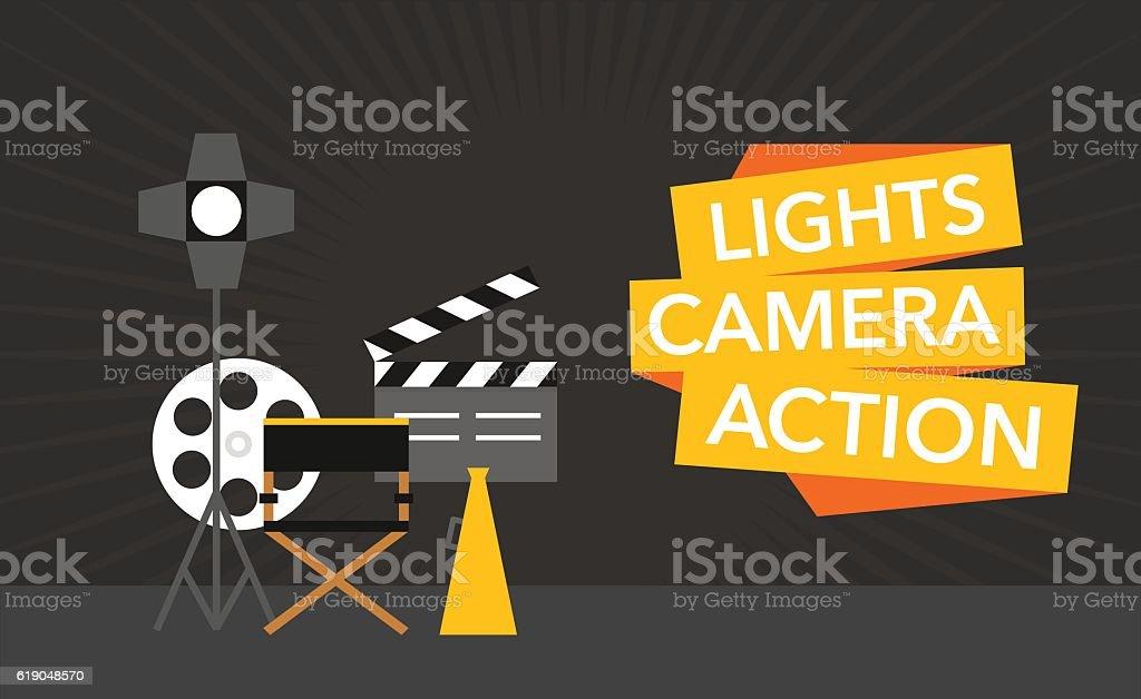 cinema flat template background vector vector art illustration
