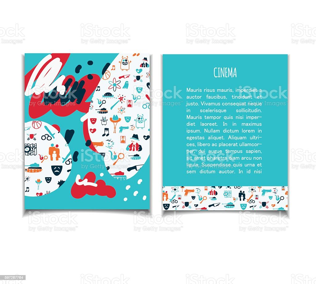 Cinema flyer doodle royalty-free cinema flyer doodle stock vector art & more images of backgrounds