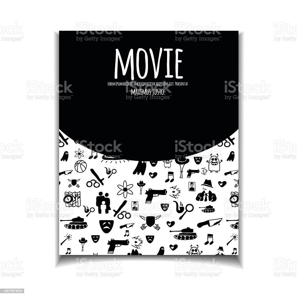 Cinema flyer doodle Lizenzfreies cinema flyer doodle stock vektor art und mehr bilder von bildhintergrund
