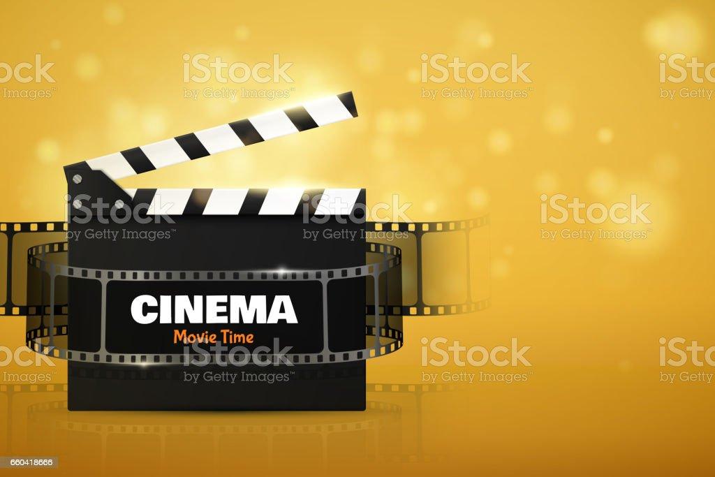 Kinoflyer Oder Poster Vektorillustration Film Festival Vorlage Stock ...