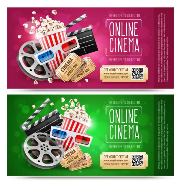 hediye kuponu ile sinema el ilanları. altın ücretsiz - sale stock illustrations