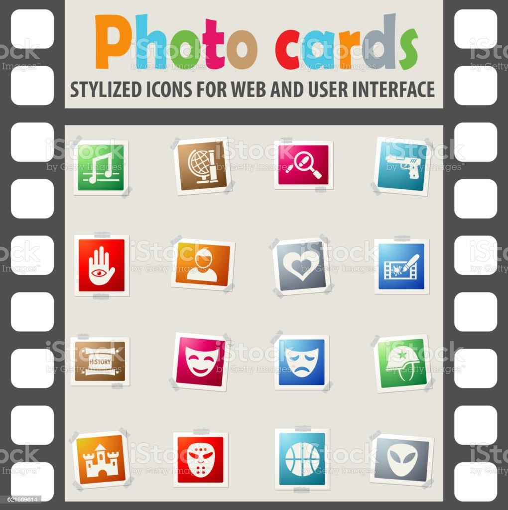 cinema genre icon set cinema genre icon set – cliparts vectoriels et plus d'images de activité libre de droits