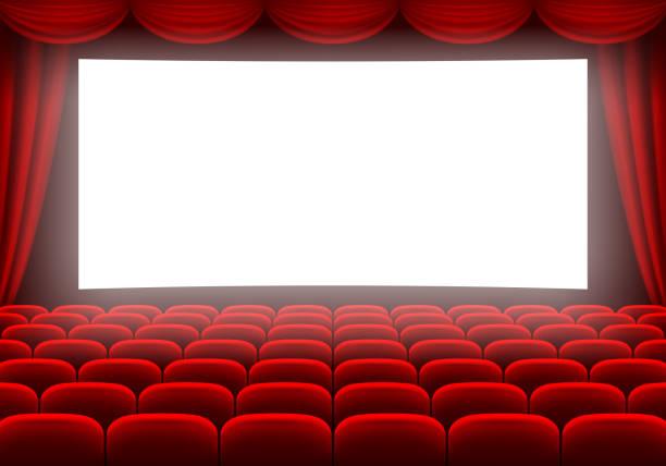 illustrazioni stock, clip art, cartoni animati e icone di tendenza di cinema hall - cinema