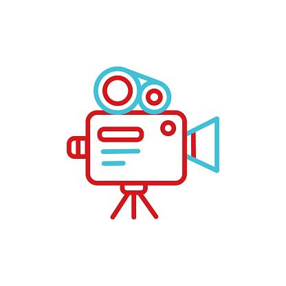 Cinema industry line icon.Editable Stroke